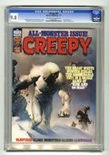 Magazines:Horror, Creepy #85 (Warren, 1977) CGC NM/MT 9.8 Off-white to white pages. Monster theme issue. Ken Kelly cover. Carmine Infantino, W...