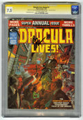 Magazines:Horror, Dracula Lives Annual #1 Signature Series (Marvel, 1975) CGC VF- 7.5 Off-white to white pages....