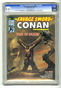 "Magazines:Miscellaneous, Savage Sword of Conan #5 (Marvel, 1975) CGC NM/MT 9.8 Off-white towhite pages. Adaptation of the Robert E. Howard story ""A ..."