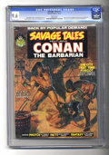 "Magazines:Miscellaneous, Savage Tales #2 (Marvel, 1973) CGC NM+ 9.6 White pages. Part one ofthe Conan story ""Red Nails,"" by Roy Thomas and Barry Smi..."