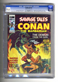 "Magazines:Miscellaneous, Savage Tales #3 (Marvel, 1974) CGC NM+ 9.6 Off-white to whitepages. Conclusion of the Conan story ""Red Nails,"" by Roy Thoma..."