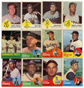 Baseball Cards:Lots, 1963 Fleer and Topps Baseball Group Lot of 141. Star-laden groupconsists of 58 Fleer and 83 Topps cards from 1963. Highlig...