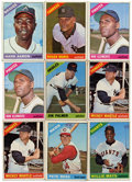 Baseball Cards:Lots, 1966 Topps Baseball Group Lot of 46. Highlights include #1 WillieMays (pin hole), 30 Pete Rose, 36 Jim Hunter, (2) 50 Micke...