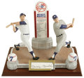 """Autographs:Others, Mickey Mantle Signed """"Switch Hitter"""" Sports Impressions Figurine.The great switch-hitting slugger Mickey Mantle was a corn..."""