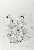 Original Comic Art:Covers, The Beagle Boys #38 Cover Original Art (Gold Key, 1977)....