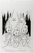 Original Comic Art:Covers, Huey, Dewey, and Louie Junior Woodchucks #71 Cover Original Art(Whitman, 1981)....
