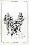 Original Comic Art:Covers, Sal Velluto and Bob Almond - Black Panther #41 Cover Original Art(Marvel, 2002). The King of Wakanda, together with Iron Ma...