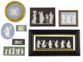 Ceramics & Porcelain, Eight English Wedgwood Stoneware Plaques and Medallions. Wedgwood, Stoke-on-Trent, Staffordshire, England. 19th century. J... (Total: 8 Items)