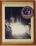 "Autographs:Celebrities, Vance Brand Signed Color STS-35 Launch Photograph, 8"" x 10"" mattedto 9.5"" x 12.5"". Inscribed by Brand on the mat ""Februar...(Total: 1 Item)"