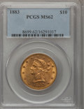 Liberty Eagles: , 1883 $10 MS62 PCGS. PCGS Population (274/70). NGC Census: (417/99).Mintage: 208,740. Numismedia Wsl. Price for problem fre...