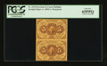 Fractional Currency:First Issue, Fr. 1230 5¢ First Issue Vertical Pair PCGS Gem New 65PPQ.. ...