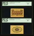 Fractional Currency:First Issue, Fr. 1282SP 25¢ First Issue Wide Margin Pair. PCGS Very Choice New64.. ... (Total: 2 notes)
