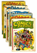 Golden Age (1938-1955):Miscellaneous, Comics On Parade Group (United Features Syndicate, 1938).... (Total: 5 Comic Books)