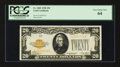 Small Size:Gold Certificates, Fr. 2402 $20 1928 Gold Certificate. PCGS Very Choice New 64.. ...