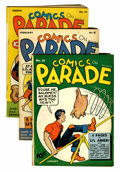 Golden Age (1938-1955):Miscellaneous, Comics On Parade #10-12 Group (United Features Syndicate, 1939) Condition: Average VG.... (Total: 3 Comic Books)