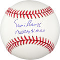 Autographs:Baseballs, Ernie Banks Inscribed Merry Xmas Single Signed Baseball....