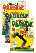 Golden Age (1938-1955):Miscellaneous, Comics On Parade #13-15 Group (United Features Syndicate, 1939).... (Total: 3 Comic Books)