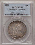 Early Half Dollars: , 1806 50C Pointed 6, No Stem VF35 PCGS. PCGS Population (27/145).(#6073)...