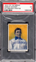 Baseball Cards:Singles (Pre-1930), 1910 Tip Top Bread Honus Wagner Pittsburgh Pirates PSA EX 5....