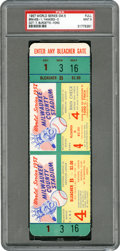 Baseball Collectibles:Tickets, 1957 World Series Game Five Full Ticket, PSA Mint 9. ...