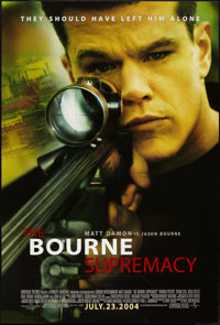 """The Bourne Supremacy (Universal, 2004). One Sheet (27"""" X 40"""") DS Advance. Action"""