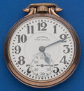 Timepieces:Pocket (post 1900), Illinois 21 Jewel Grade 161, Sixty Hour Bunn Special With MarkedDial. ...