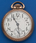 Timepieces:Pocket (post 1900), Waltham 16 Size, 23 Jewel Vanguard with Up/Down Indicator and Lossier Inner Terminal Hairspring. ...