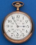 Timepieces:Pocket (post 1900), Waltham Model 92, 18 Size 21 Jewel Crescent St.. ...