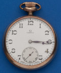Timepieces:Pocket (post 1900), Omega 16 Size 15 Jewel Pocket Watch. ...