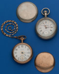 Timepieces:Pocket (post 1900), Two Fancy Dial 18 Size Runners. ... (Total: 2 Items)