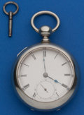 Timepieces:Pocket (pre 1900) , Waltham Model 57 Home Watch Co. Key Wind, # 452862. ...