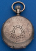 Timepieces:Pocket (post 1900), Elgin 4 Ounce Coin Silver 18 Size Hunters Case. ...