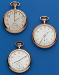 Timepieces:Pocket (post 1900), Three Elgin 12 Size Runners. ... (Total: 3 Items)
