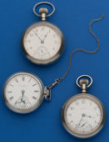 Timepieces:Pocket (post 1900), Three - Elgin 18 Size Pocket Watches. ... (Total: 3 Items)