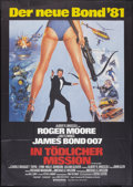 "Movie Posters:James Bond, For Your Eyes Only (United Artists, 1981). German A0 (33"" X 46""). James Bond.. ..."