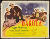 "Dakota and Other Lot (Republic, 1945). Half Sheets (2) (22"" X 28"") Style B. Western. ... (Total: 2 Items)"
