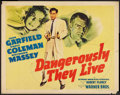 """Movie Posters:War, Dangerously They Live Lot (Warner Brothers, 1942). Half Sheets (2)(22"""" X 28"""") Style B. War.. ... (Total: 2 Items)"""