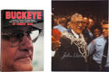 Miscellaneous Collectibles:General, John Wooden Signed Photograph and Woody Hayes Signed Book....