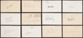 Baseball Collectibles:Others, 1955 Baseball Stars Single Signed Government Postcards Lot of 9....