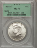 1998-S 50C Silver SMS MS70 PCGS. PCGS Population (204). NGC Census: (286). Numismedia Wsl. Price for problem free NGC/PC...