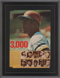 Autographs:Others, 1972 Roberto Clemente Signed 3,000 Hits Poster....