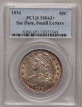 Bust Half Dollars, 1834 50C Small Date, Small Letters MS62+ PCGS. O-109, R.1....