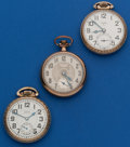 Timepieces:Pocket (post 1900), Three Elgin 16 Size Runners. ... (Total: 3 Items)
