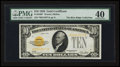 Small Size:Gold Certificates, Fr. 2400* $10 1928 Gold Certificate. PMG Extremely Fine 40.. ...