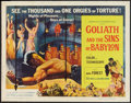 "Movie Posters:Adventure, Goliath and the Sins of Babylon (American International, 1964).Half Sheet (22"" X 28""). Adventure.. ..."