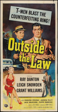 "Movie Posters:Crime, Outside the Law (Universal International, 1956). Three Sheet (41"" X 79""). Crime.. ..."