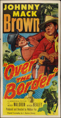 """Movie Posters:Western, Over the Border (Monogram, 1950). Three Sheet (41"""" X 81""""). Western.. ..."""