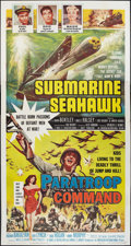"Movie Posters:War, Submarine Seahawk/Paratroop Command (American International,R-1959). Three Sheet (41"" X 81""). War.. ..."