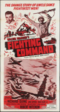 """Movie Posters:War, We've Never Been Licked (Realart, R-1950). Three Sheet (41"""" X 81"""").War. Reissued as Fighting Command.. ..."""