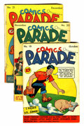 Golden Age (1938-1955):Miscellaneous, Comics On Parade #19-21 Group (United Features Syndicate, 1939).... (Total: 3 Comic Books)